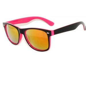 b2aad505fa27b New 2 Tone Pink Black Wayfarer Sunglasses Mirror
